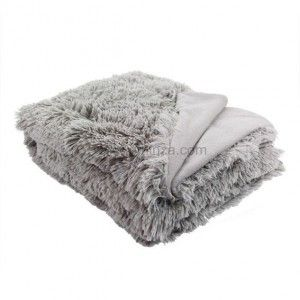 plaid imitation fourrure loup gris plaid fausse fourrure. Black Bedroom Furniture Sets. Home Design Ideas