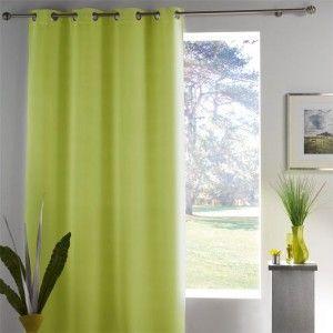 rideau et voilage vert eminza. Black Bedroom Furniture Sets. Home Design Ideas