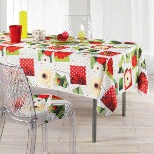 nappe rectangulaire l240 cm ladybird rouge nappe de table eminza. Black Bedroom Furniture Sets. Home Design Ideas