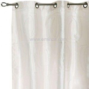 Rideau 140 x h240 cm romantique dentelle lin rideaux eminza - Rideau dentelle romantique ...