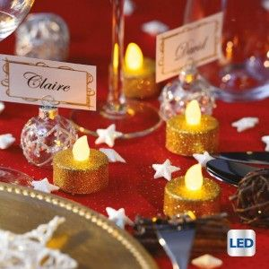 Set di 6 lumini decorativi LED Golia Oro