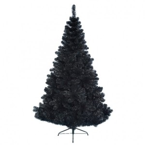 Sapin artificiel de Noël Black Royal H150 cm Noir