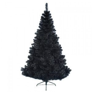 Sapin artificiel de Noël Black Royal H210 cm Noir