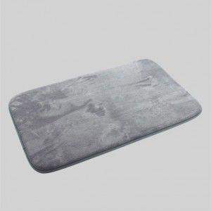 Tapis de bain m moire gris tapis salle de bain eminza - Tapis salle de bain gris ...