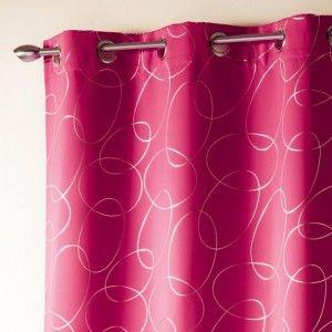 rideau occultant rose fushia. Black Bedroom Furniture Sets. Home Design Ideas