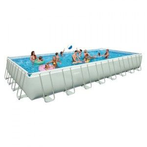 Piscine tubulaire rectangulaire Ultra Silver L9,75 x l4,88 x H1,32 m - Intex