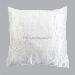 Coussin Glitter Blanc