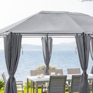 tonnelle pergola et toile de toit pour rester l 39 ombre. Black Bedroom Furniture Sets. Home Design Ideas