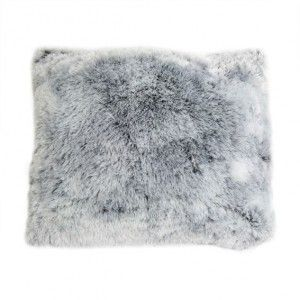Coussin fausse fourrure  Ours gris