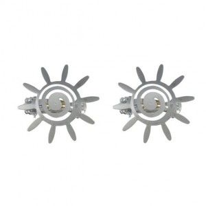Lot de 2 pinces Helios Chrome