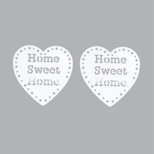 Set di due mollette fermatenda Sweet home Bianco