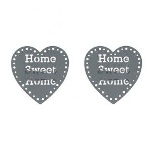 Lot de 2 pinces pivotantes Sweet home Gris