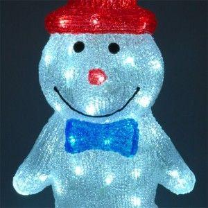 Bonhomme de neige lumineux chapeau blanc froid 60 led silhouette lumineuse eminza - Chapeau bonhomme de neige ...