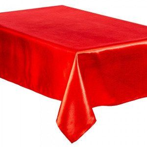 Nappe rectangulaire (L240 cm) Satin Rouge