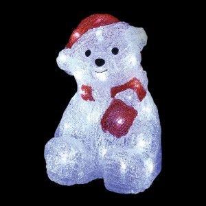 Ours lumineux Oscar (petit format) Blanc froid 30 LED