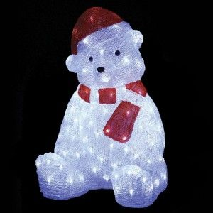 Ours lumineux Oscar Blanc froid 120 LED