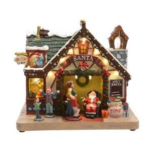 Boutique du P�re No�l illumin�e Santa Claus