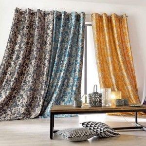 rideau 145 x h260 cm surinam bleu rideau tamisant eminza. Black Bedroom Furniture Sets. Home Design Ideas