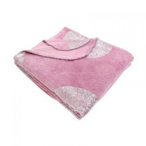 Plaid in pile (152 cm) Platino Rosa