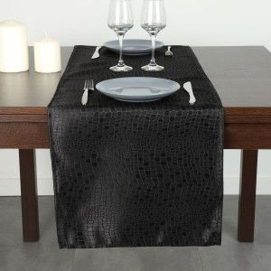 Chemin de table Serpentile Noir