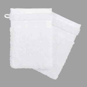 Lot de 2 gants de toilette Vita Blanc