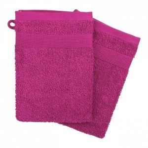 Lot de 2 gants de toilette Vita Fuchsia