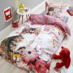 Housse de couette et une taie (140 cm) Princesse Kitty