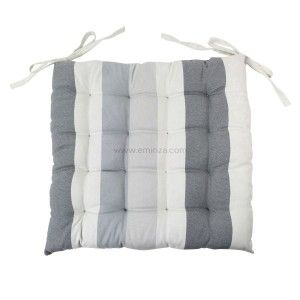 coussin d houssable rayure taupe coussin et housse de coussin eminza. Black Bedroom Furniture Sets. Home Design Ideas