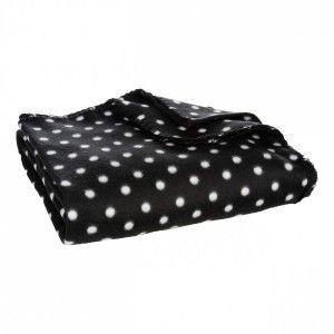 plaid polaire 150 cm douillet noir plaid et jet s eminza. Black Bedroom Furniture Sets. Home Design Ideas