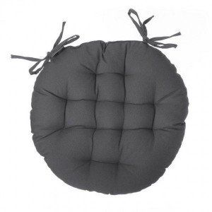 Coussin de chaise ronde Datara Anthracite