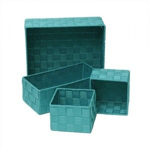 Lot de 4 paniers Color Turquoise