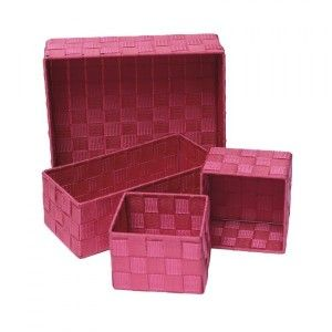 Set di 4 cestini Color Fuchsia