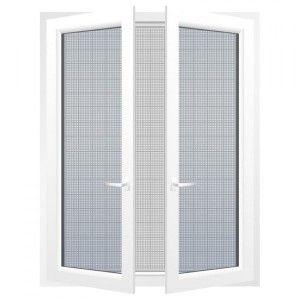 kit moustiquaire fen tre 100 x h100 cm blanc store moustiquaire eminza. Black Bedroom Furniture Sets. Home Design Ideas