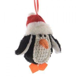 Pingouin de No�l Migloo Rouge