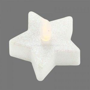 Lot de 4 étoiles LED Althaïs Blanc chaud