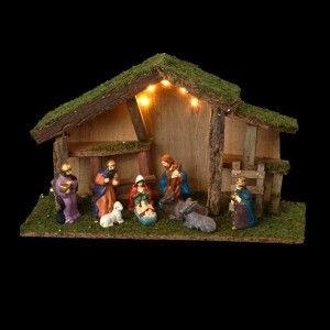 Presepe luminoso con natività Sainte-Dominique
