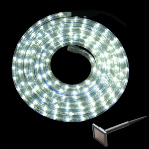 Tube lumineux solaire 6 m Blanc froid 144 LED