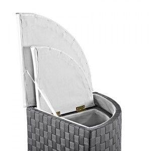 lot de 2 paniers linge d 39 angle anthracite panier. Black Bedroom Furniture Sets. Home Design Ideas