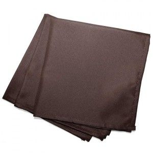 Lot de 3 serviettes Essentiel Chocolat