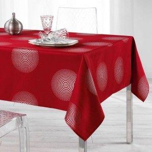 Nappe rectangulaire (L240 cm) Atome Rouge