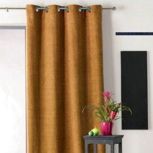 rideau 135 x h260 cm brazil jaune rideaux eminza. Black Bedroom Furniture Sets. Home Design Ideas