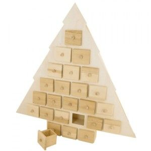 Calendario dell'Avvento da decorare Sapin en bois