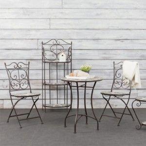 Chaise de jardin pliante Greensboro Taupe Salon de