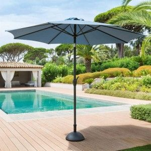 Parasol inclinable rond Fidji (D 3 m) - Orage