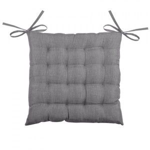 Coussin de chaise Béa 16 points Anthracite