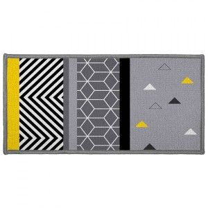 Tapis multi-usage (115 cm) Yellow Mix Gris
