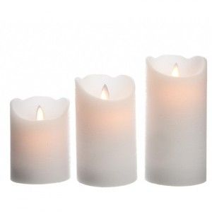 Lot de 3 bougies votives LED Luzi Blanc
