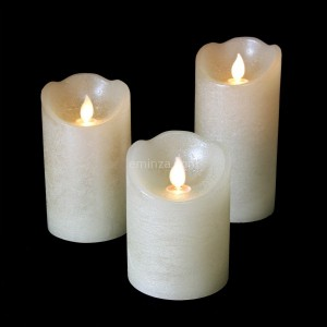 Lot de 3 bougies votives LED Luzi Perle