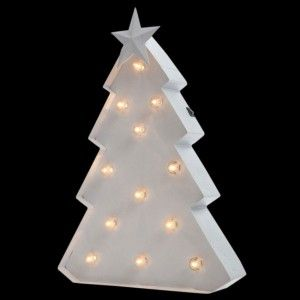 Árbol luminoso Blanco cálido 12 LED