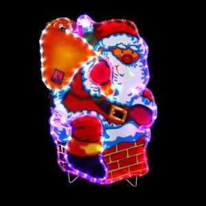 Babbo Natale luminoso Alban Multicolore 72 LED